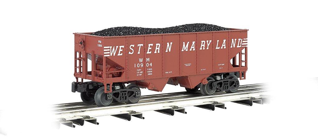 Williams por Bachmann 55-ton 2-Bay USRA Fuera Braced Hopper con carga de carbón extraíble Western Maryland – o escala