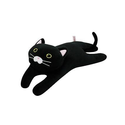 Amazon.com: MINISO negro almohada de gato de peluche muñeca ...