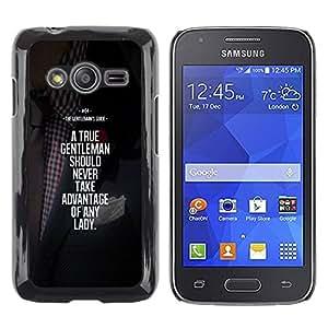 TopCaseStore / la caja del caucho duro de la cubierta de protección de la piel - Motivational - Samsung Galaxy Ace 4 G313 SM-G313F