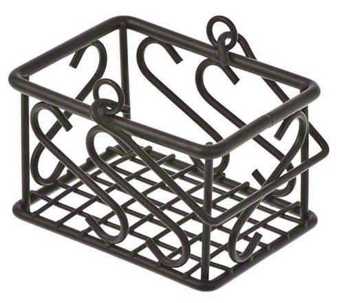 American Metalcraft (SBS533) Leaf Design Wrought Iron Sugar Packet Basket (Wire Sugar Holder Packet)