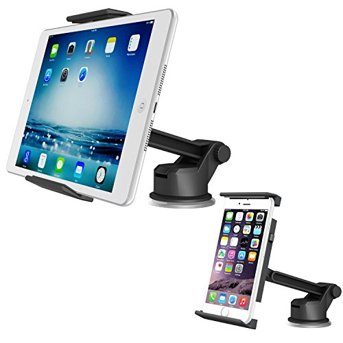 Tablet Dashboard Mount, APPS2Car Suction Cup Dash Car Mount Windshield Holder Desk Stand for iPad Mini 4 3 2 1, Samsung Galaxy Tab 7-inch 8-inch 8.4-inch Tabelt, Nexus 7 with Long Adjustable Arm
