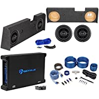 2014-Up GMC/Chevy Sierra/Silverado Crew Sub Box+Rockford Fosgate 12 Subs+Amp
