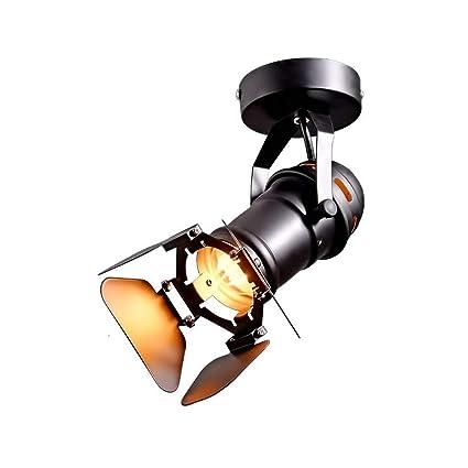 XAJGW Lámpara de techo industrial con soporte de lámpara ...