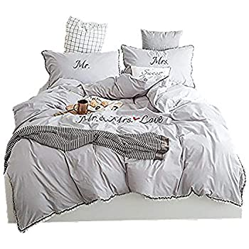 Amazon Com Qzzielife Soft Microfiber Mr And Mrs Bedding