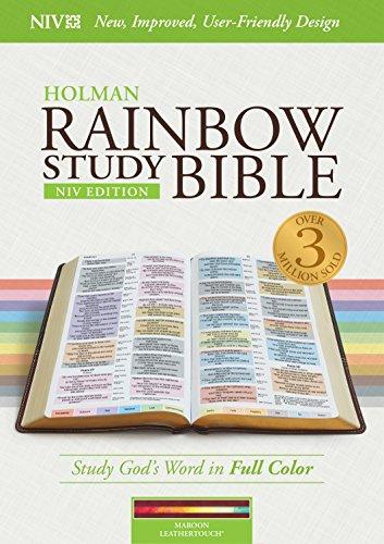 - NIV Rainbow Study Bible, Maroon LeatherTouch, Indexed