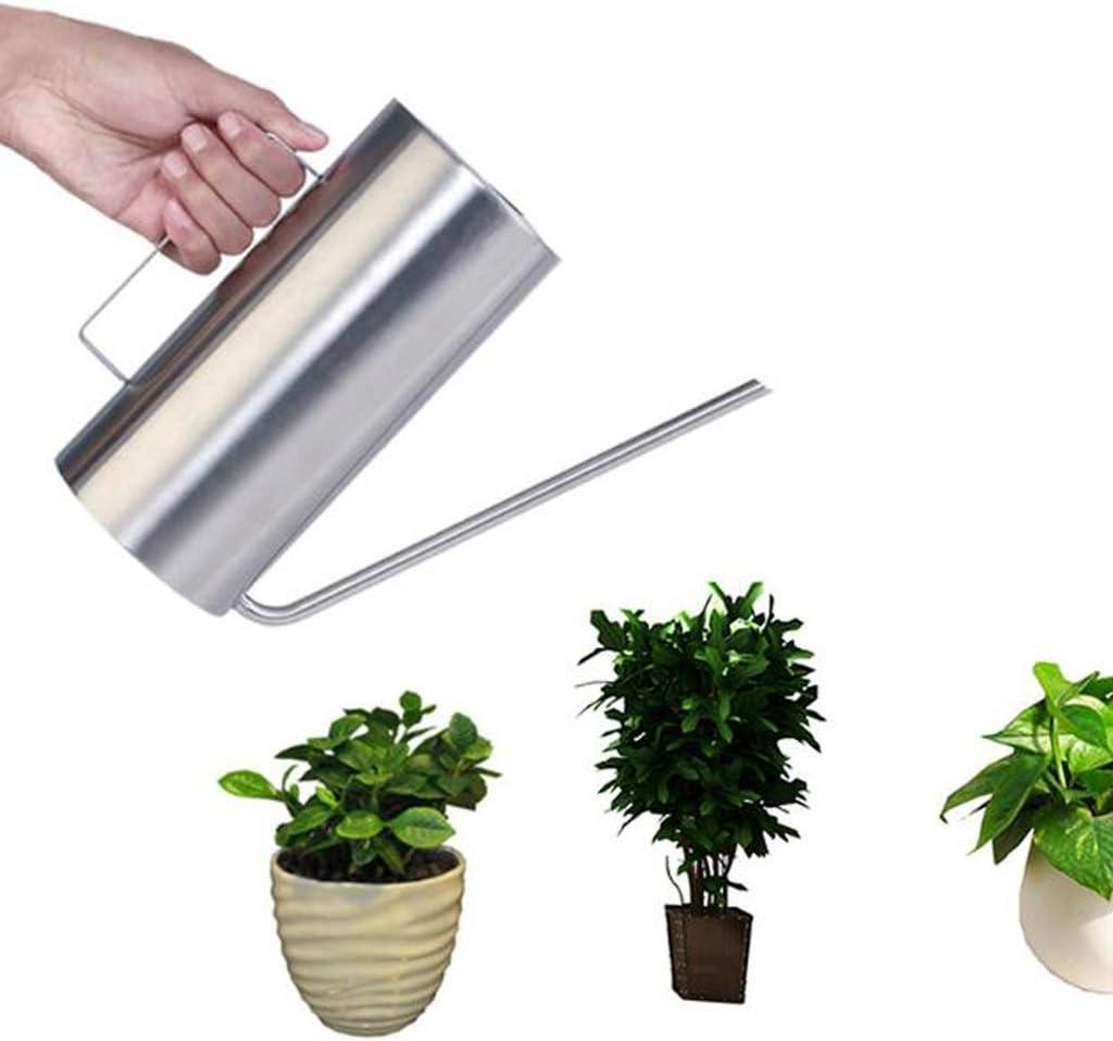praktisch und Haltbar Homyl 1.5L Zylinderform Gie/ßkanne Edelstahl mit langem Hals f/ür Pflanzen//Blumen Bew/ässerung