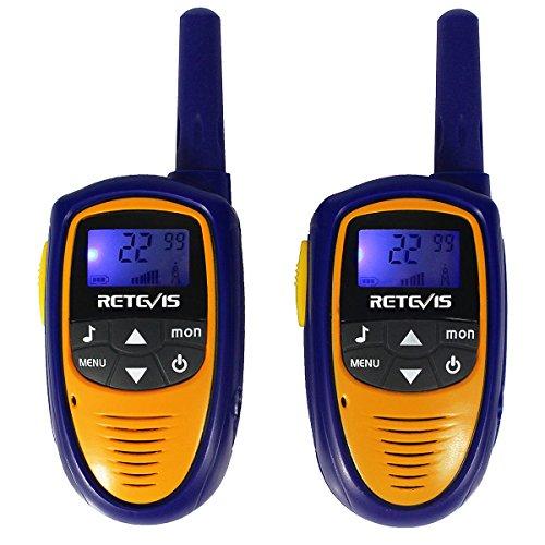 Retevis RT31 Mini Kids Walkie Talkies 22CH 0.5W FRS VOX LCD Display(Purple,1 Pair)