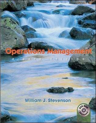 Operations Management (Instructor's Edition) by William J. Stevenson (2004-03-01)