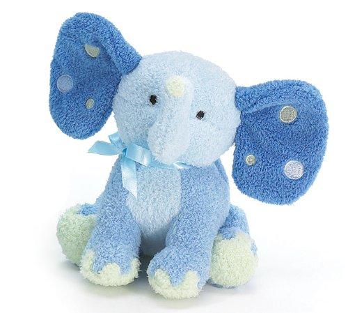 Patrick Plush Elephant Rattle Blue 5-1/2