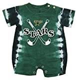 Mighty Mac Dallas Stars NHL Baby Boys Infant Tie-Dye Romper, Green