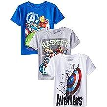 Marvel Boys' 3-Pack Avengers T-Shirt
