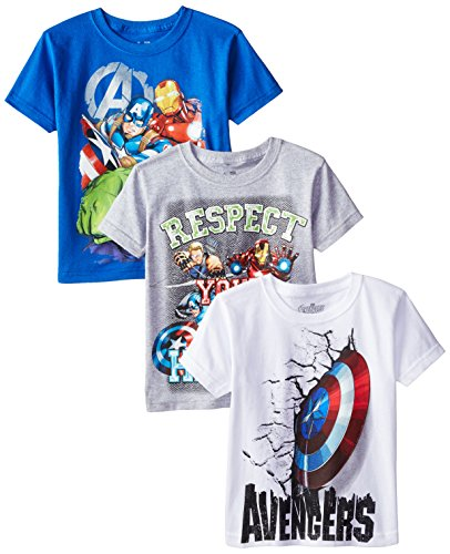 Marvel Boys 3 Pack Avengers T Shirt