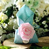 20pcs Wedding Party Favour Candy Bags and Baby Shower Favour Gifts Drawstring Drawstring Bags (3.546.88 inch, Blue)