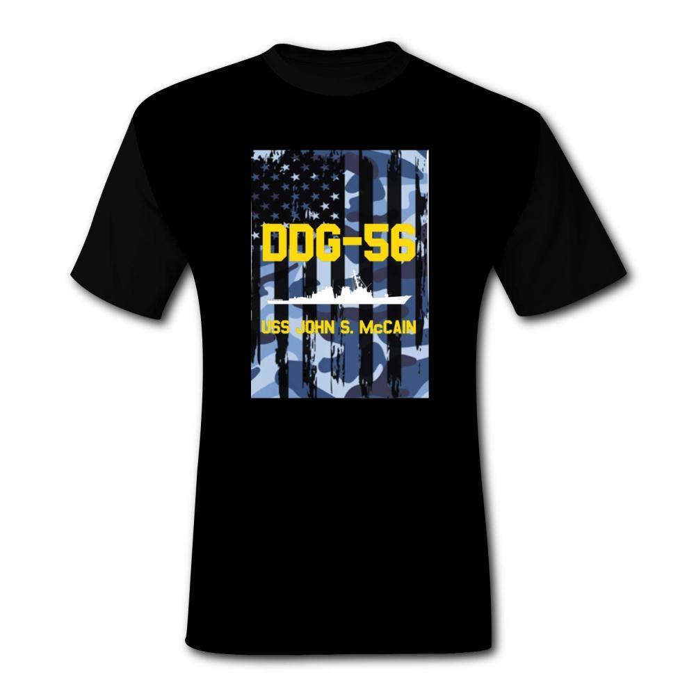 Ytdz Ddg56 Uss John S. Mccain Tshirt For Dad Grandpa Father Short Sleeve Graphic Ts