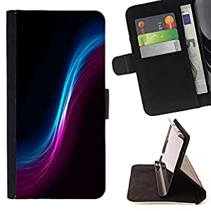 DEVIL CASE - FOR Sony Xperia Z1 Compact D5503 - Space Cosmos Wormhole Universe Art Colorful - Style PU Leather Case Wallet Flip Stand Flap Closure Cover