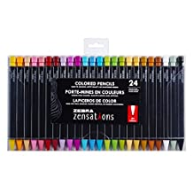 Zebra Zensations Mechanical Colored Pencils, 2.0mm, Assorted Colored Lead, 24-Count