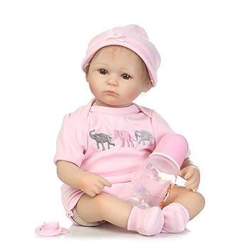 Doll Reborn Bebé Muñecas Suave Silicona Paño Cuerpo Realista ...