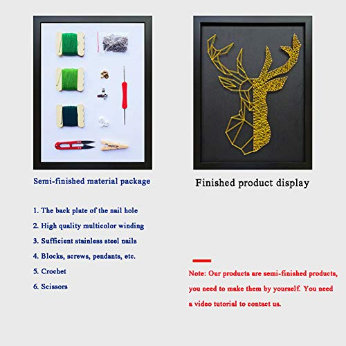 Home Decoration DIY Thread Winding Three-Dimensional Gold Deer Decorative Painting, Mural DIY Material Package Decompression Desktop Decoration Decorations, Parent-Child Manual Interactive Game by Home Decoration (Image #5)