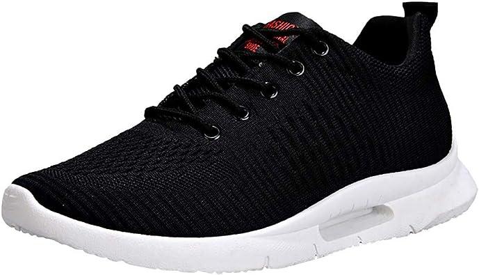 Calzado Deportivo De Hombre,Zapatillas Running Hombre Mujer Zapatos Deporte para Correr Trail Fitness Sneakers Ligero Transpirable,Zapatillas para Hombre,Negro,44: Amazon.es: Zapatos y complementos