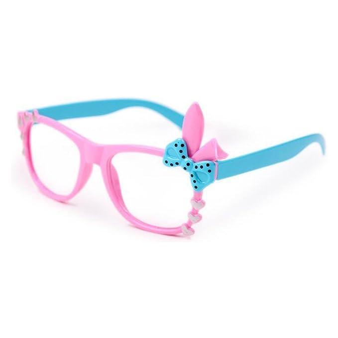 custodia per occhiali Junkai Occhiali da vista per ragazzi TR90 con lenti trasparenti ka17112203