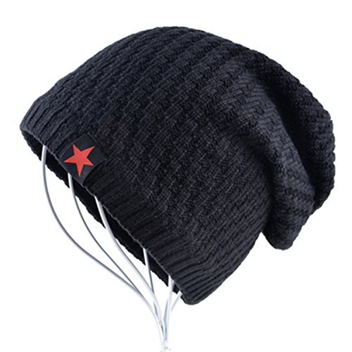 - Gome-z The New bonnet Red Star hat men's winter beanie man skullies Knitted wool beanies men Winter Hats Hip Hop caps Autumn gorros Black