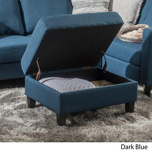 Carolina Dark Blue Fabric Storage (Navy Blue Storage Ottoman)