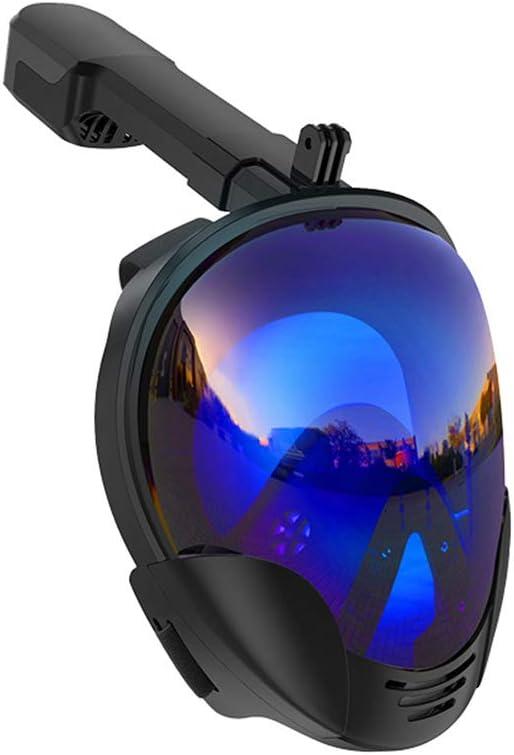 JXYNB Máscara de Buceo Anti-Ultravioleta galvanizada, máscara de Buceo, Equipo de Snorkel, Snorkel portátil Desmontable, S/L, Gafas de natación antivaho Completas de 180 °, Piscina