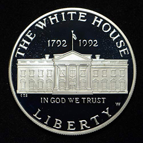 1992 S White House Commemorative Silver Dollar $1 Proof US Mint (1992 White House 200th Anniversary Proof Silver Dollar)