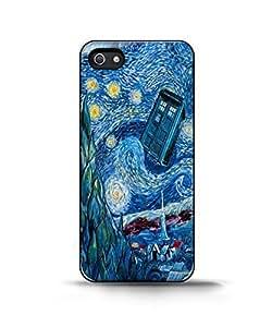 Coque iPhone 5/5S Doctor Who Meets Van Gogh 4 - iPhone 5/5s Case WANGJING JINDA