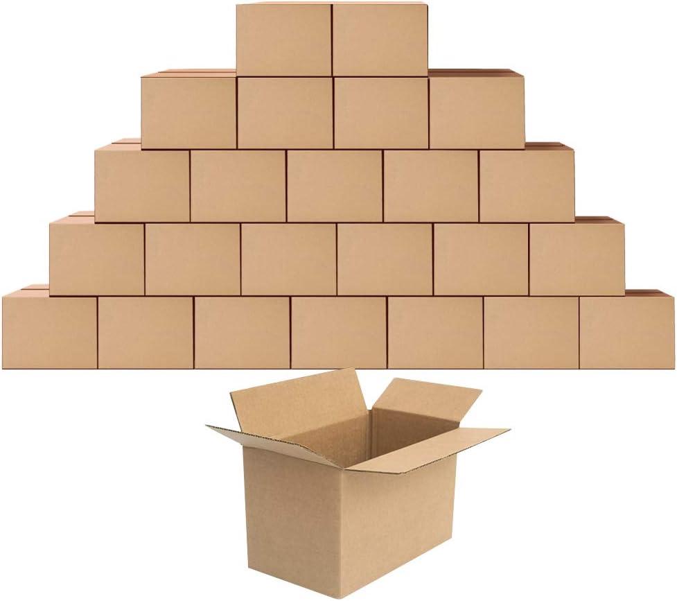 Cajas de cartón corrugadas para envío, 28 x 15 x 15 cm, 25 ...
