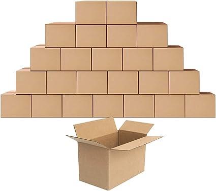 Eono by Amazon Cajas de cartón para mudanzas, almacenaje o envíos 28 x 15,3 x 15,3 cm, paquete de 25: Amazon.es: Hogar