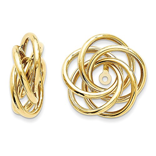 14k Polished Love Knot Earring Jackets by Saris and Things