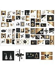 HERZWILD Adventskalender Numbers Stickers Kerst Stickers Kerst Motieven Zelfklevend Advent Numbers voor knutselen en decoreren
