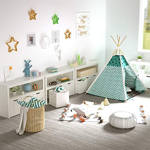 Amazon.com: Homfa - Armario de almacenamiento de juguetes ...
