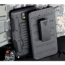 Galaxy Note 3 Case, Cocomii Robot Armor NEW [Heavy Duty] Premium Belt Clip Holster Kickstand Shockproof Hard Bumper Shell [Military Defender] Full Body Dual Layer Rugged Cover Samsung N9000 N9005 (Black)