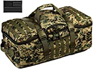 Protector Plus Tactical Travel Backpack 60L Military MOLLE Duffel Bag (Rain Cover & Patch Inclu