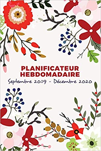 Calendrier Decembre 2020.Planificateur Hebdomadaire Et Organisateur Septembre 2019