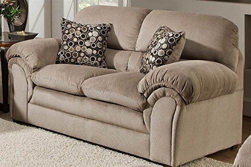 Simmons Upholstery 6150-02 Harper Cocoa Loveseat