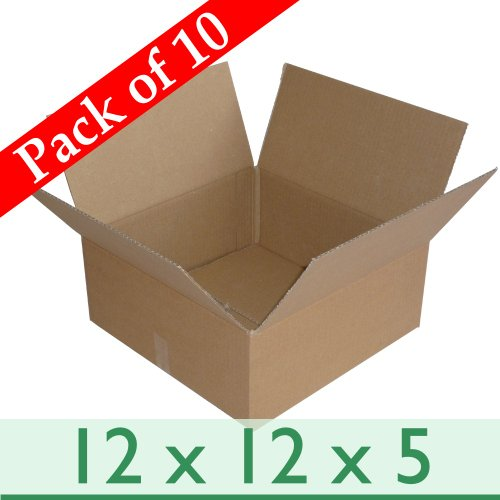 Triplast 76 x 76 x 76mm Small Single Wall 3x3x3 Shipping Mailing Postal Gift Cube Cardboard Boxes Pack of 10