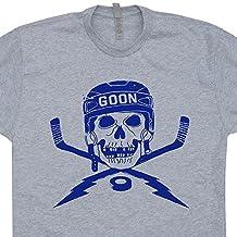 Hockey Goon T Shirts Player Jersey Vintage Skull and Sticks Retro Shirtmandude