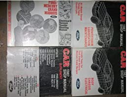 1987 lincoln town car service shop repair manual set oem factory rh amazon com