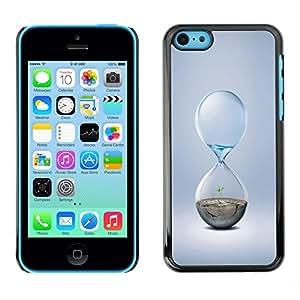 Cubierta de la caja de protección la piel dura para el Apple iPhone 5C - Hourglass Design