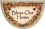 """Cheap Washable Non-Skid """"Bless Our Home"""" Kitchen Mat/Rug Half Circle 19″ x 31″ Color: Sage"""