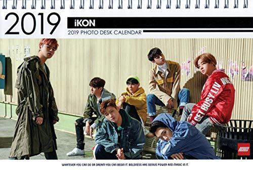iKON アイコン グッズ【卓上 カレンダー (写真集 カレンダー) 2019~2020年 (2年分) 】 + ステッカーシール [3点セット] お急ぎ便対応