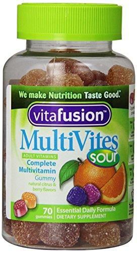 Vitafusion MultiVites Sours Gummy Витамины, 70 граф (в упаковке 3)