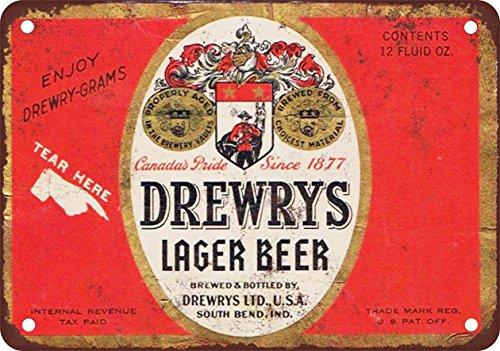 7-x-10-metal-sign-drewrys-lager-beer-vintage-look-reproduction