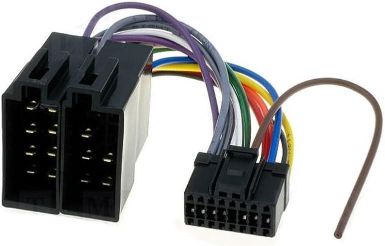 Amazon.com: DEH-P Pioneer 16 Pin to ISO Lead Wiring Loom Power Adaptor Wire  Radio Connector: AutomotiveAmazon.com