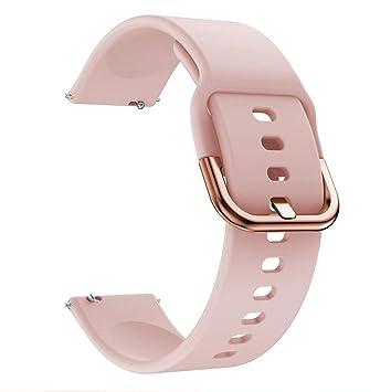 Riou Correa para Reloj,❤️para Samsung Galaxy Watch Active Correa de reemplazo Suave de Silicona para Deportes Pulseras de Repuesto para smartwatches