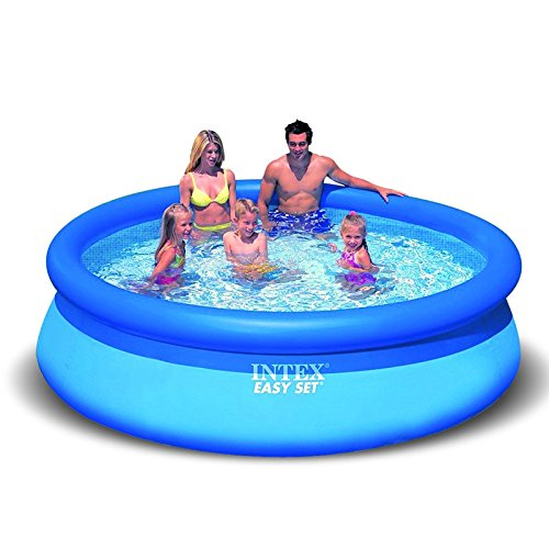 Paris Prix - Piscina autoportante Easy 244 x 76 cm azul: Amazon ...