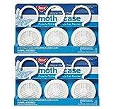 2-Pack of 3 Pieces, Enoz Moth Cake/Hangers (2) 3-Packs, Total 6 Moth Cakes